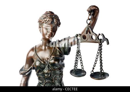 Closeup Of A Sculpture Of Themis Mythological Greek Goddess Symbol
