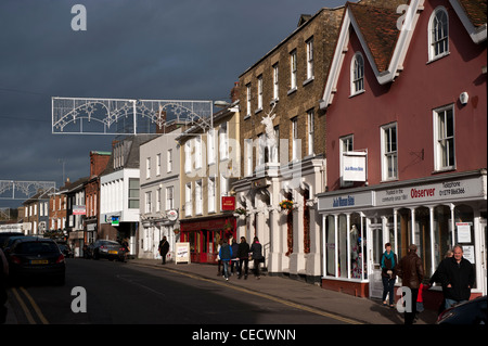 Bishops Stortford, Hertfordshire, England. Local councillors have voted not to continue with the town being twinned - Stock Photo