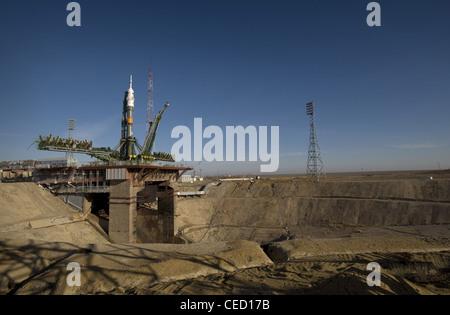 Soyuz rocket spacecraft - Stock Photo