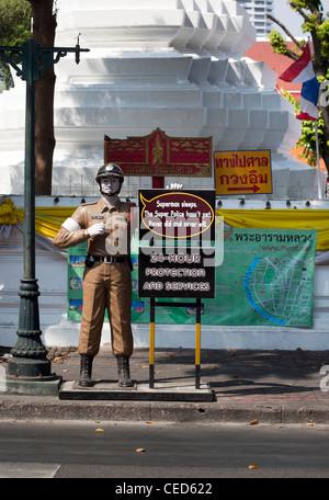 Dummy Traffic Policeman Bangkok Thailand