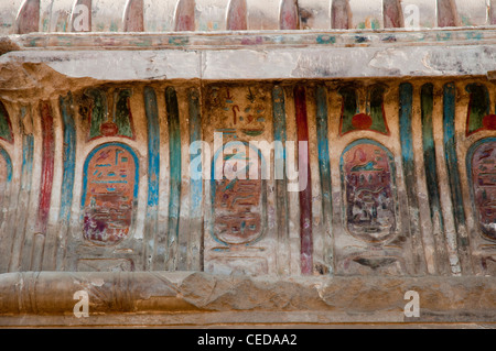 Frieze painting on the ceiling of the Kom Ombo Temple, Egypt - Stock Photo