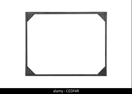 A new leather award board certificate and diploma frame - Stock Photo