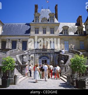 The Palace of Fontainebleau, Fontainebleau, Paris, Île-de-France, France - Stock Photo