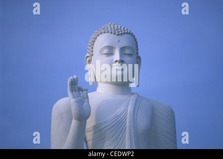 Great Buddha statue, Mihintale, Sri Lanka - Stock Photo