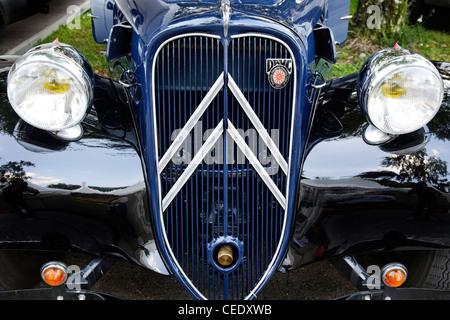 Bonnet, Citroen classic cars, historic vehicles, Hamburg, Germany, Europe - Stock Photo