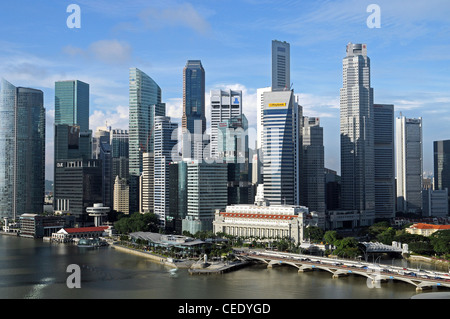 Singapore is a modern, clean capital in South-east-asia - Stock Photo