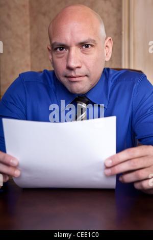 Job interview scrutiny - Stock Photo