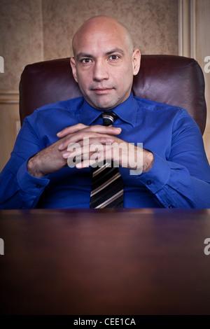 Serious businessman portrait - Stock Photo
