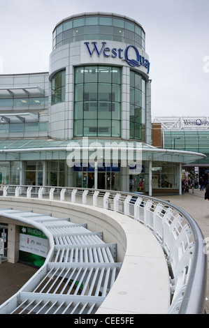 West Quay shopping centre in Southampton - Stock Photo