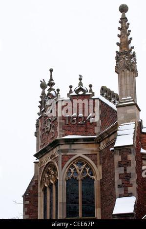 St Johns College buildings built in 1624. Cambridge University. England. - Stock Photo