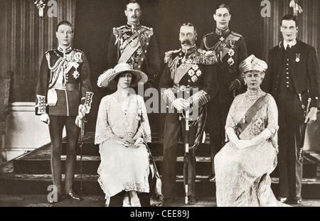 British Royal Family group portrait - Stock Photo
