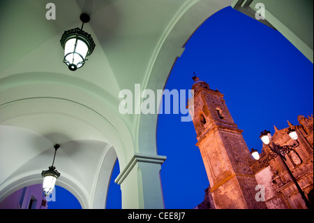 View of the old church in Medina-Sidonia, Cadiz, Andalusia, Spain - Stock Photo