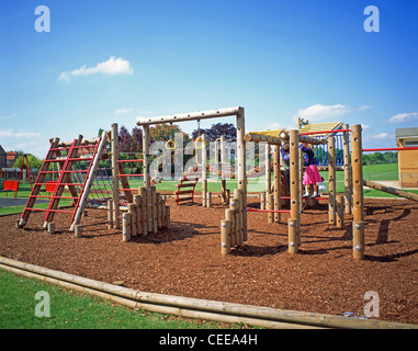 Children's outdoor playground, Winkfield, Berkshire, England, United Kingdom - Stock Photo