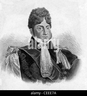 George IV - King of Great Britain and Ireland from 1820 - Stock Photo