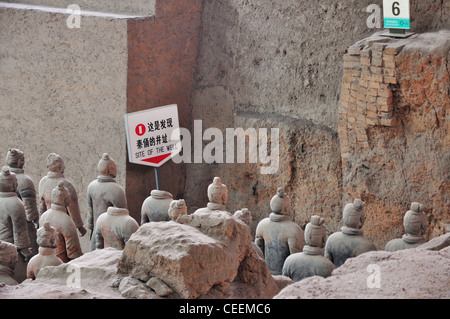 it's the place where terracottas were found. - Stock Photo