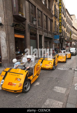 The talking car tour. Self drive, GPS guided tours around Madrid, Spain. - Stock Photo