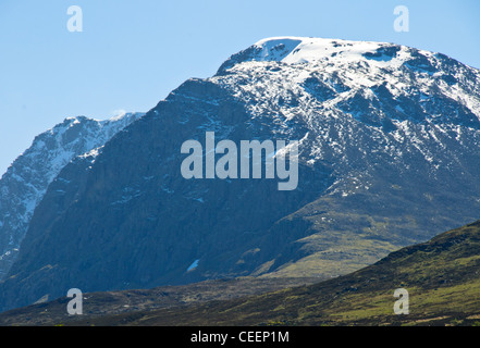 Ben Nevis is the highest mountain in the British Isles.It attracts an estimated 100,000 ascents a year,Fort William,Scotland - Stock Photo