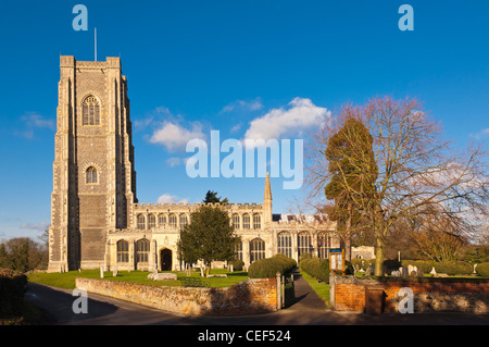 The parish church of St. Peter and St. Paul in Lavenham , Suffolk, England , Britain , Uk - Stock Photo