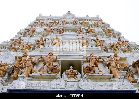 Sri Senpaga Vinayagar Hindu Temple by Ceylon Tamil in Singapore - Stock Photo