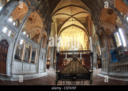St. Swithun's shrine memorial, Winchester Cathedral, Hampshire, England - Stock Photo