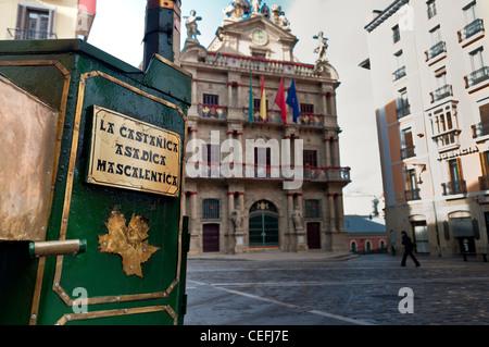 Town hall. Pamplona, Navarre, Spain - Stock Photo