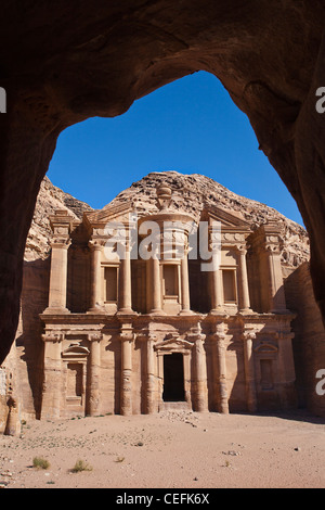 El Deir Monastery in Petra, Jordan. - Stock Photo