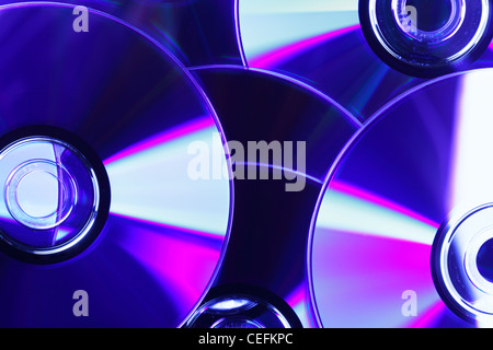 CD close-up, may be used as background - Stock Photo