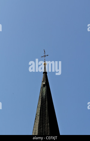 The top of a church tower in the center of Vienna, Austria - Stock Photo