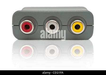 Scart adapter unit. - Stock Photo