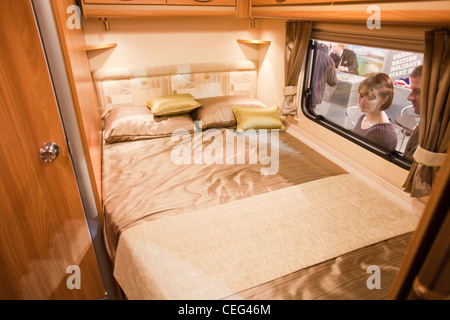 A Caravan Interior At The And Motor Home Show Event City In Manchester