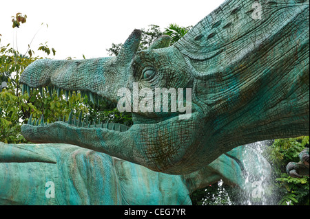Spinosaurus statue, Universal Studios, Singapore. - Stock Photo