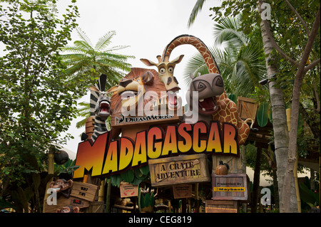 Madagascar characters, Universal Studios, Singapore Stock ...