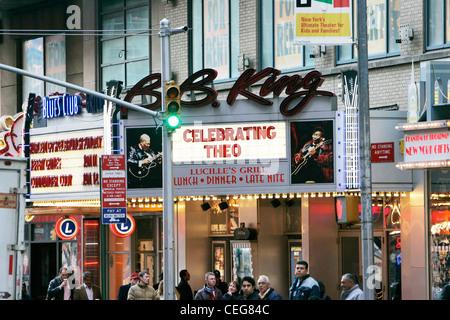 BB Kings blues club on times square new york city - Stock Photo