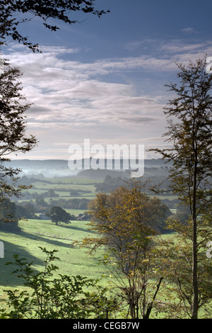 Looking south across the Vale of Wardour from Newtown in south-west Wiltshire. - Stock Photo