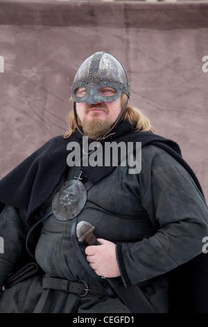 Icelander at JORVIK Viking Festival, a long-established festival in York, celebrating our Viking heritage, UK - Stock Photo