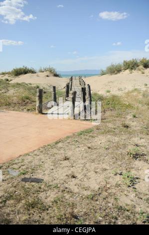 Sandy Beach at Riumar, Deltebre, Spain - Stock Photo