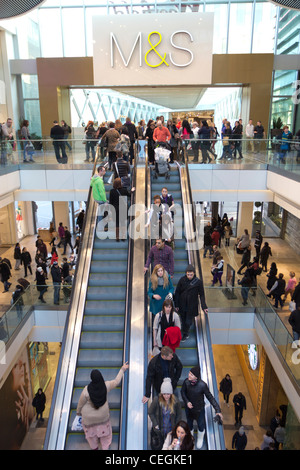 Westfield Stratford City Shopping Centre - Stratford - London - Stock Photo
