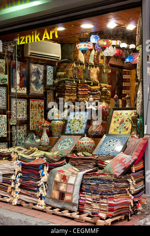 Carpet Shop In Grand Bazaar Istanbul Turkey Stock Photo
