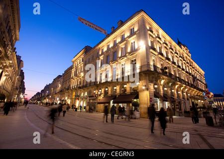 Regent Grand Hotel de Bordeaux , City of Bordeaux, France - Stock Photo
