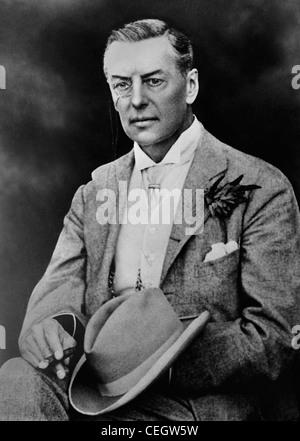 Vintage photo circa 1890s of British statesman Joseph Chamberlain (1836 - 1914). - Stock Photo