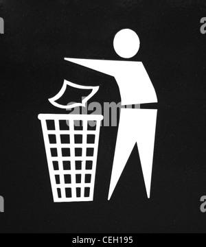 Waste icon - Stock Photo