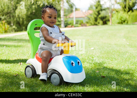Adorable Little african american baby boy playing - Stock Photo