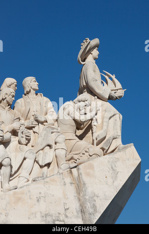 The Padrao dos Descobrimentos (Monument to the Discoveries) located in the Belem district of Lisbon, Portugal - Stock Photo