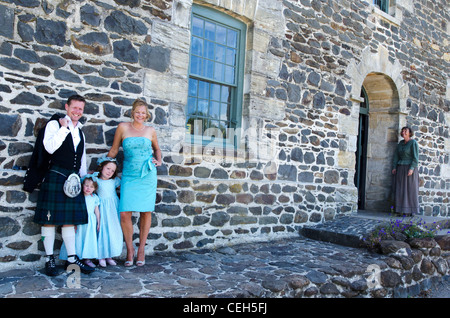 The best man, made of honor and flower girls in a New Zealand wedding in Kerikeri, New Zealand - Stock Photo