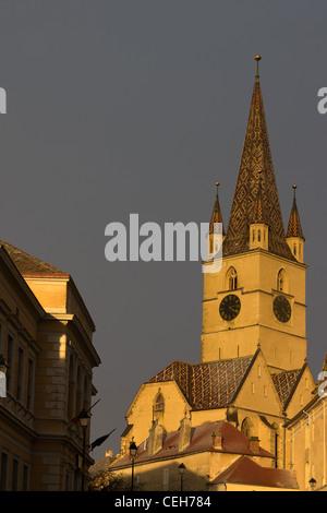 The Evangelic Church in Sibiu - Stock Photo