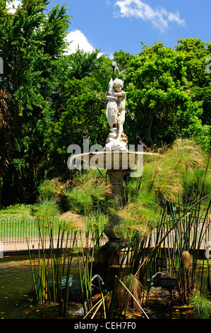 Fountain in Company's Garden, Cape Town, Western Cape, South Africa - Stock Photo