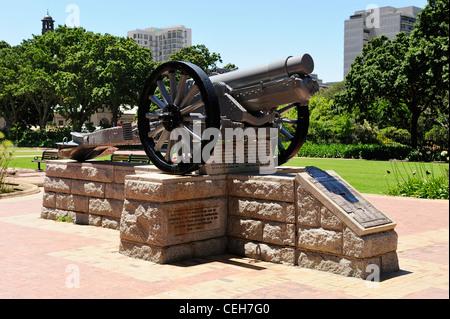 Memorial to Artillerymen in Company's Garden, Cape Town, Western Cape, South Africa - Stock Photo