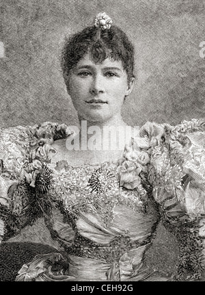 Dame Marie Tempest, 1864 – 1942. English singer and actress. From The Strand Magazine published 1897. - Stock Photo