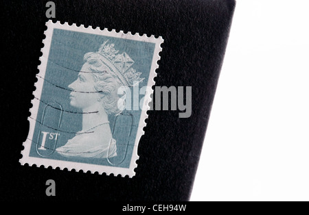 British first class stamp, February 2012 - Stock Photo