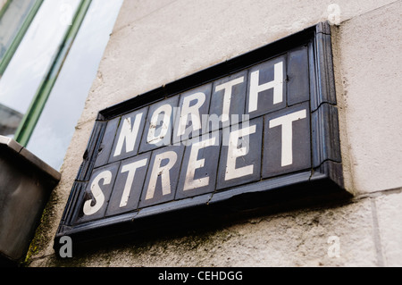 Street sign for 'North Street' - Stock Photo